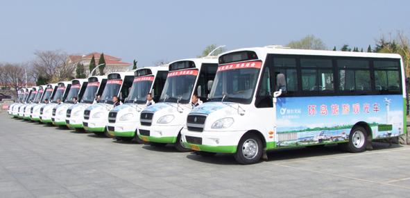 交运集团开通养马岛环岛旅游观光车