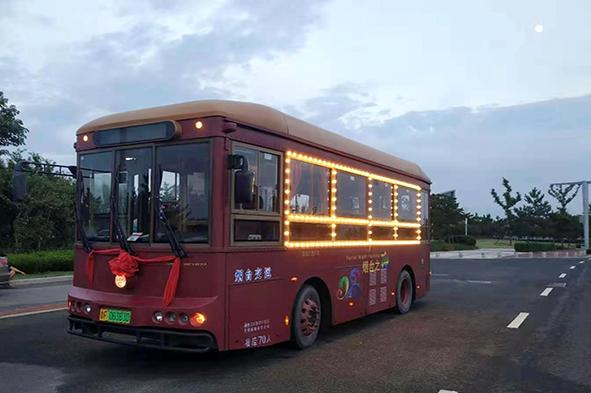 亿博官网开发区渔灯铛铛旅游车正式通车